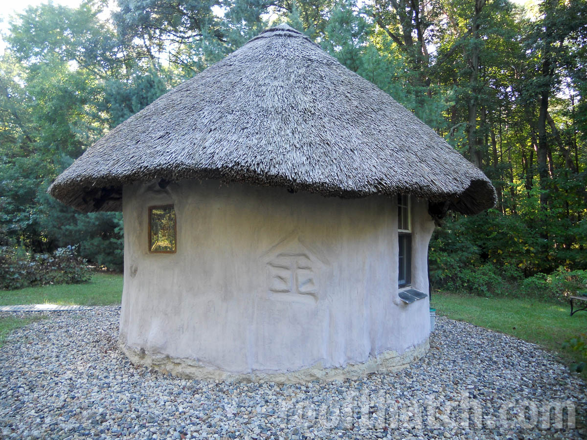 Cob Building Thatched with Character for Metal at MoonTree Community, IN