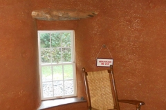 Cob Thatch Interior and Natural Plaster with Copper Finish