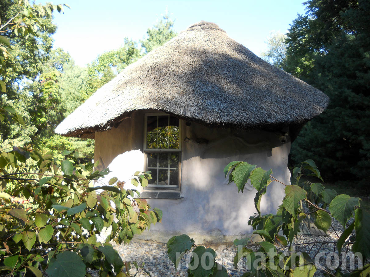 Cob Building Thatched at MoonTree Community, IN