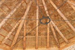 Completed Interior Thatch Chapel at Kinstone Circle