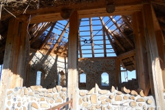 Cordwood Construction and Thatch Chapel at Kinstone Circle