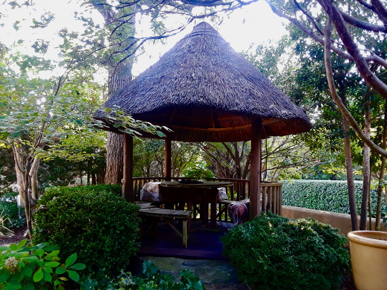 thatched gazebo