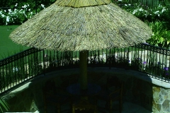 Custom Thatch Umbrella Providing Cool Shade