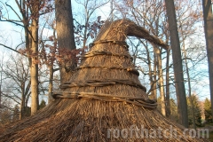 Thatched Tulip Tree House Ridge Detail