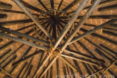 Ceiling Tile, Bamboo Interior with Extensive Natural Rope Wrapping