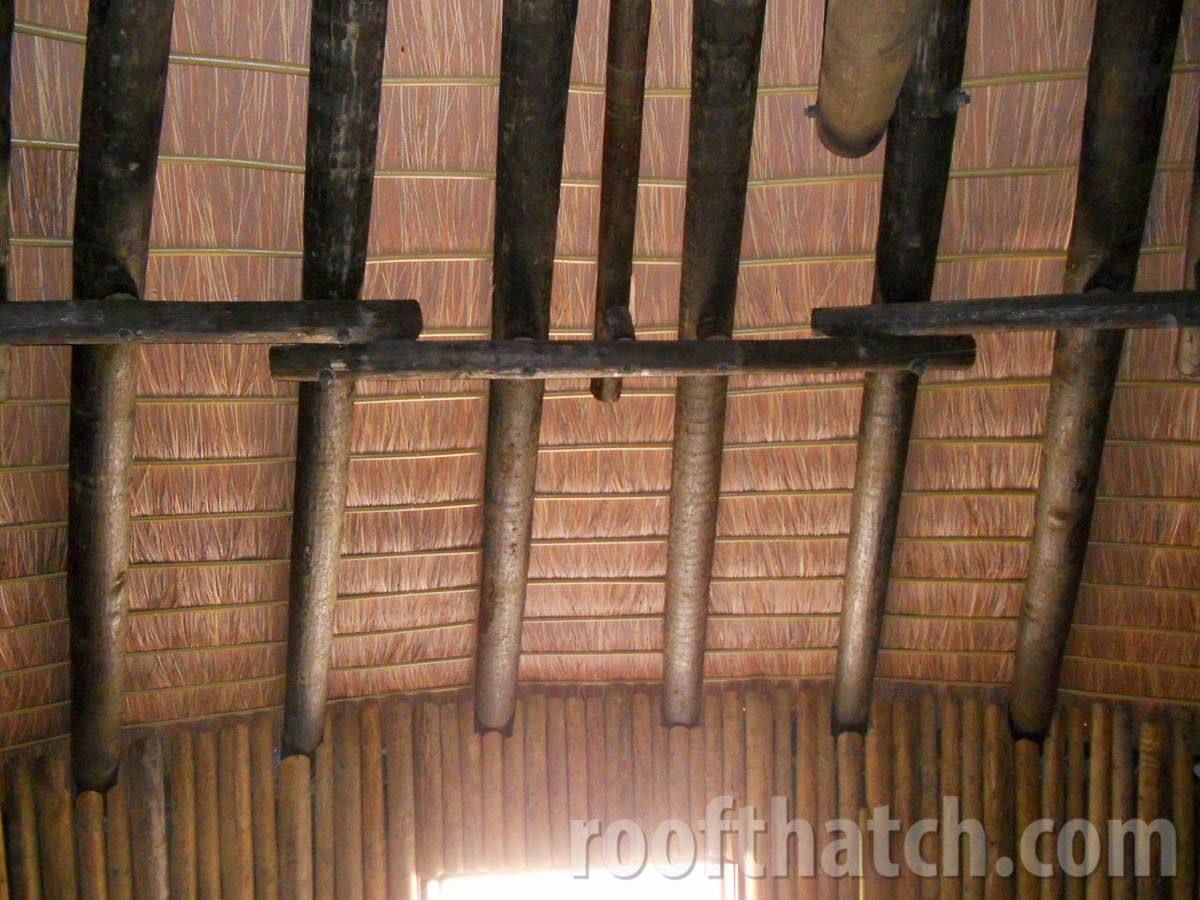 Ceiling Tile and Bamboo Interior