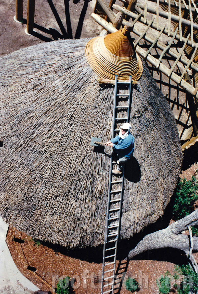 Dressing and Repairing Thatch with Leggett